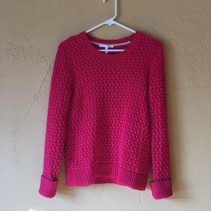Victoria's Secret Red Cotton Sweater Small EUC